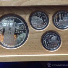 Monedas FNMT: COLECCION COMPLETA PLATA GAUDI 2002. Lote 48349568