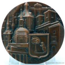 Monedas FNMT: MEDALLA BRONCE MADRID FNMT LEÓN HERRERA ESTEBAN FÁBRICA NACIONAL MONEDA TIMBRE 1966. Lote 48955530