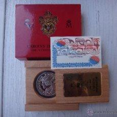 Monedas FNMT: ESTUCHE MONEDA PLATA , CARLOS V EMPERADOR , V CENTENARIO , 2000 PESETAS , LUBECK , ORIGINAL . Lote 49214526
