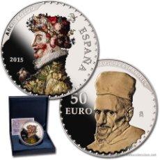 Monedas FNMT: ESPAÑA 50 EURO 2015 CINCUENTIN PLATA ARCIMBOLDO Y VELÁZQUEZ III SERIE TESOROS *NUMISBUR*. Lote 207743295