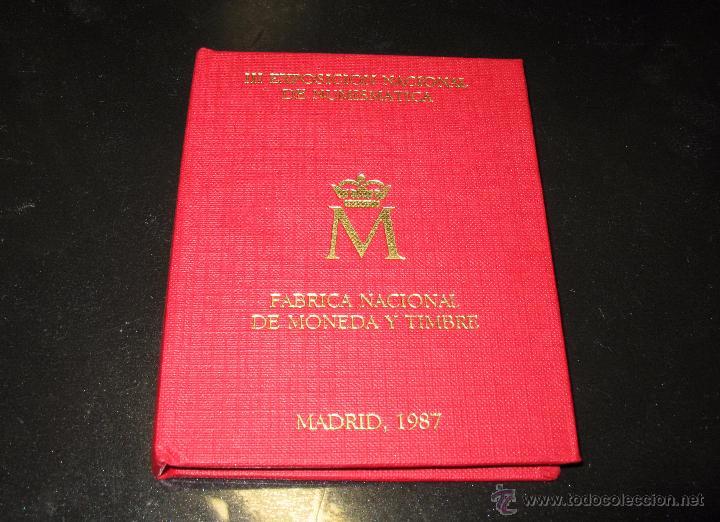 CARTERA CONMEMORATIVA DE LA III EXP. NAL. DE NUMISMÁTICA DE 1987 (Numismática - España Modernas y Contemporáneas - FNMT)