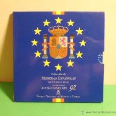 Monedas FNMT: CARTERA OFICIAL NUMERADA DE PESETAS CON LAS ACUÑACIONES DEL AÑO 1992. Lote 92152417