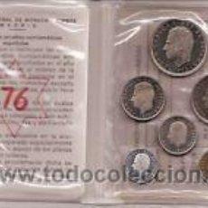 Monedas FNMT: DE COLECCION PRUEBAS NUMISMATICAS-CARTERA OFICIAL FNMT 1976- PRUEBAS. Lote 289261128
