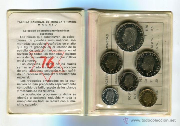 CARTERA PRUEBAS NUMISMATICAS 1976 (1975 *75) S/C (Numismática - España Modernas y Contemporáneas - FNMT)