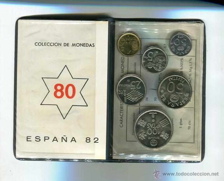 SERIE NUMISMATICA CARTERA MUNDIAL-82 (1980 *80) S/C) (Numismática - España Modernas y Contemporáneas - FNMT)