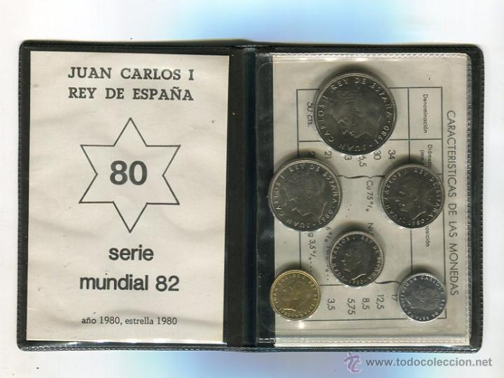 SERIE NUMISMATICA CARTERA MUNDIAL-82 (1980 *80) S/C) (CARTERA VERDE) (Numismática - España Modernas y Contemporáneas - FNMT)