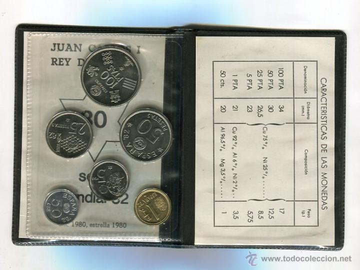 Monedas FNMT: SERIE NUMISMATICA CARTERA MUNDIAL-82 (1980 *80) S/C) (CARTERA VERDE) - Foto 2 - 51604184