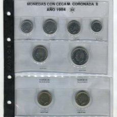 Monedas FNMT: HOJA CON LAS MONEDAS DEL AÑO 1984 S/C HOJA FILABO INCLUIDA (CIEN PESETAS LIS ARRIBA I ABAJO). Lote 51611229