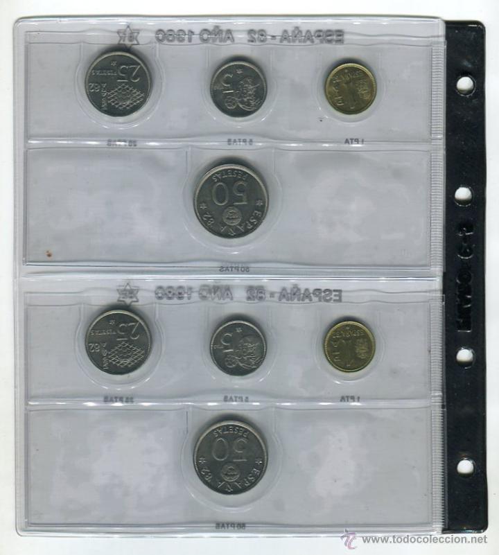 Monedas FNMT: HOJA CON LAS MONEDAS DEL AÑO 1980 *81 Y *82 S/C HOJA FILABO INCLUIDA - Foto 2 - 51611293