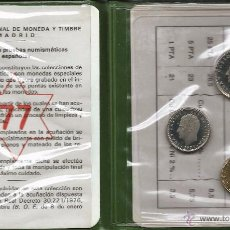 Monedas FNMT: CARTERA OFICIAL FNMT 1977 PRUEBAS NUMISMATICAS. Lote 97614892