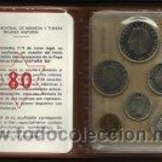 Monedas FNMT: CARTERA OFICIAL FNMT 1980 PRECINTADA FUTBOL MUNDIAL 1982 {OJO}. Lote 62294802