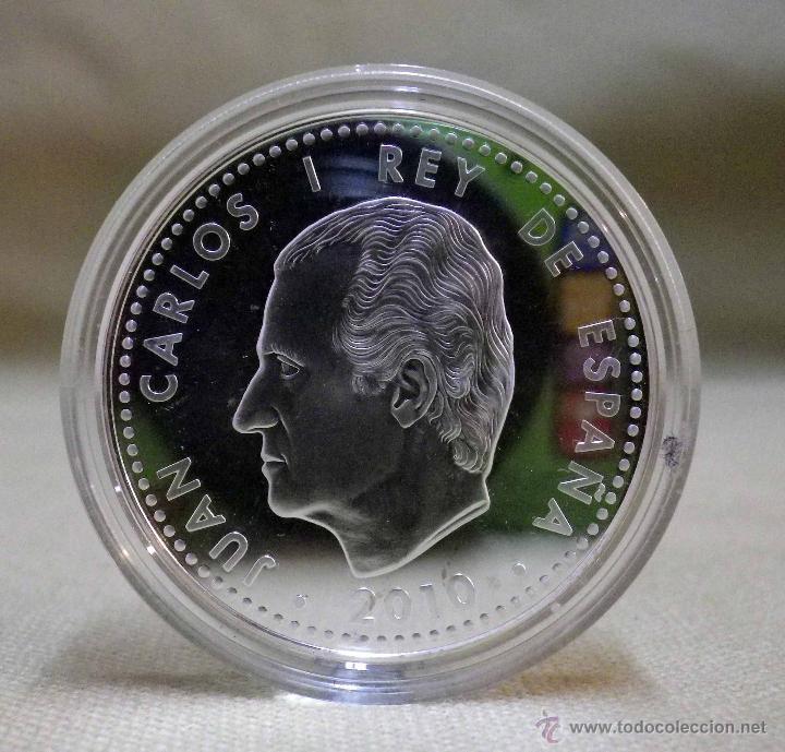 Monedas FNMT: MONEDA DE PLATA, 10 EUROS, CAMPEONES DEL MUNDO, SUDAFRICA , FNMT, 2010, CON CERTIFICADO, SIN ESTUCHE - Foto 4 - 52414981