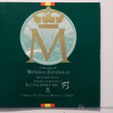 Monedas FNMT: CARTERA OFICIAL FNMT PRUEBAS NUMISMATICAS DEL AÑO 1993. Lote 52785456
