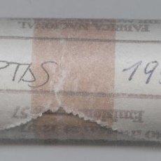 Monedas FNMT: CARTUCHO ORIGINAL DE LA F.N.M.T. 40 MONEDAS DE 25 PESETAS FRANCISCO FRANCO AÑO 1957*69. Lote 56191331