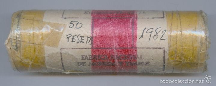 CARTUCHO ORIGINAL DE LA F.N.M.T. 40 MONEDAS DE 50 PESETAS AÑO 1982 (Numismática - España Modernas y Contemporáneas - FNMT)