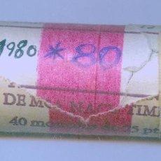 Monedas FNMT: CARTUCHO ORIGINAL DE LA F.N.M.T. 40 MONEDAS DE 25 PESETAS AÑO 1980*80. Lote 56508665