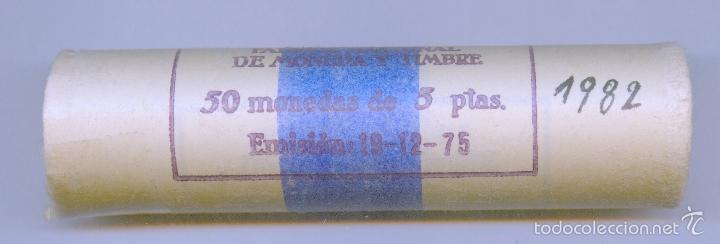 CARTUCHO ORIGINAL DE LA F.N.M.T. MONEDAS DE 5 PESETAS AÑO 1982 (Numismática - España Modernas y Contemporáneas - FNMT)