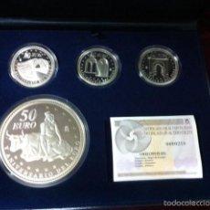 Monedas FNMT: 2007. COLECCION COMPLETA PLATA V ANIVERSARIO DEL EURO. Lote 56741642
