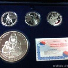 Monedas FNMT: 2005. COLECCION COMPLETA PLATA IV CENTENARIO EDICION DEL QUIJOTE. Lote 56741742