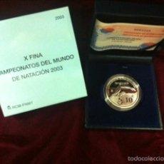 Monedas FNMT: 10 EUROS CAMPEONATO DEL MUNDO DE NATACION 2003. Lote 57330632