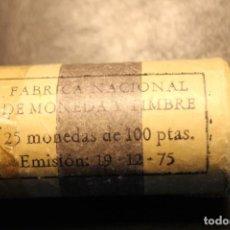Monedas FNMT: CARTUCHO DE LA FNMT. 25 MONEDAS DE 100 PESETAS. EMISIÓN 19-12-75. Lote 62954396