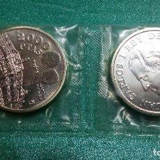 Monedas FNMT: ESPAÑA 2000 PESETAS CONMEMORATIVA 1994 ASAMBLEA DEL FMI PLATA 925-FUNDA. Lote 83191787