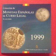 Monedas FNMT: CARTERA OFICIAL FNMT AÑO 1999 - MONEDAS ESPAÑOLAS - 500, 200,100,50,25,10,5 Y 1PESETAS -... R-4205. Lote 71516559