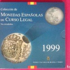 Monedas FNMT: CARTERA OFICIAL FNMT AÑO 1999 - MONEDAS ESPAÑOLAS - 500, 200,100,50,25,10,5 Y 1PESETAS -... R-4211. Lote 71535819