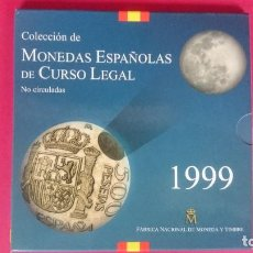 Monedas FNMT: CARTERA OFICIAL FNMT AÑO 1999 - MONEDAS ESPAÑOLAS - 500, 200,100,50,25,10,5 Y 1PESETAS -... R-4213. Lote 71535931