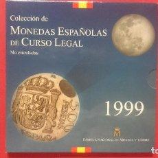 Monedas FNMT: CARTERA OFICIAL FNMT AÑO 1999 - MONEDAS ESPAÑOLAS - 500, 200,100,50,25,10,5 Y 1PESETAS -... R-4216. Lote 71581243