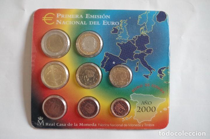 ESPAÑA 2000 OFICIAL FNMT EUROSET 8 MONEDAS (Numismática - España Modernas y Contemporáneas - FNMT)
