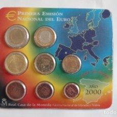 Monedas FNMT: ESPAÑA 2000 OFICIAL FNMT EUROSET 8 MONEDAS. Lote 72889927