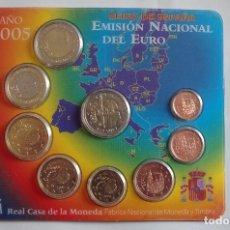 Monedas FNMT: ESPAÑA 2005 OFICIAL FNMT EUROSET 9 MONEDAS. Lote 72890455