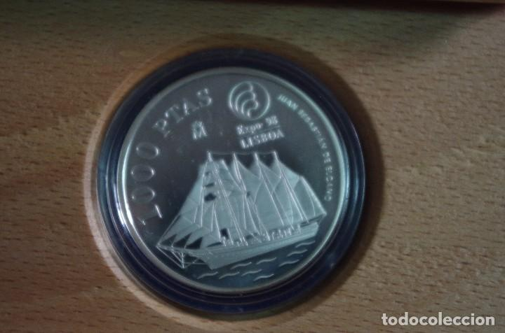 Monedas FNMT: MONEDA 1000 PTS - 1998 - EXPO ´98 - JUAN SEBASTIÁN ELCANO - ESPAÑA. - Foto 2 - 73352739