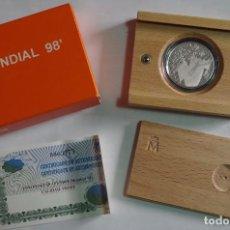 Monedas FNMT: MONEDA 1000 PTS - 1998 - PLATA PROOF - MUNDIAL 98 - CON CERTIFICADO Y ESTUCHE. Lote 73364555