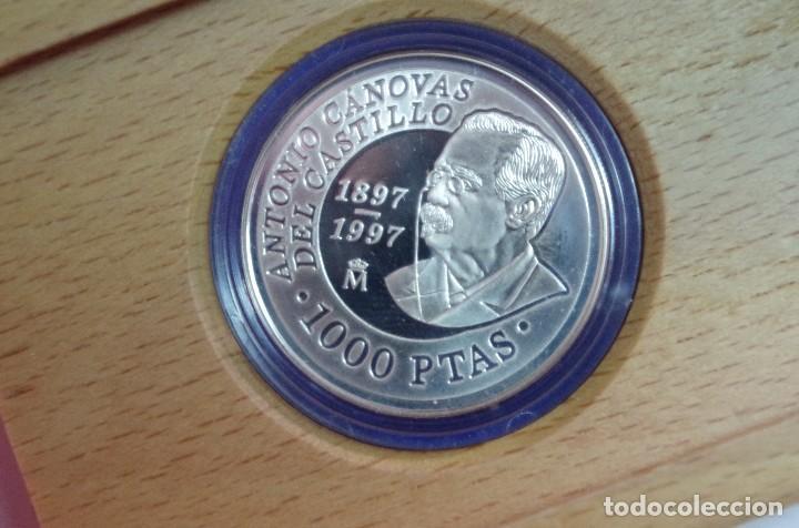 Monedas FNMT: MONEDA 1000 PTS - 1997 - PLATA PROOF - CENTENARIO DE LA MUERTE CANOVAS - CON CERTIFICADO Y ESTUCHE - Foto 2 - 73373727