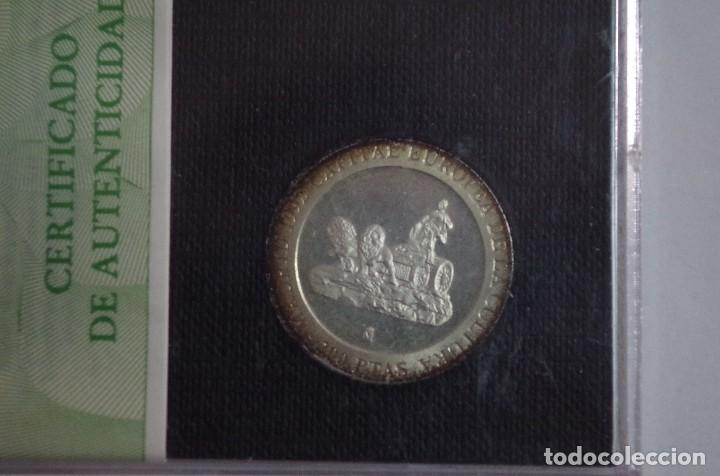 Monedas FNMT: ESTUCHE MONEDA 200 PESETAS 1992 PLATA PROOF - MADRID CAPITAL EUROPEA DE LA CULTURA - CON CERTIFICADO - Foto 2 - 73398535