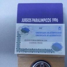 Monedas FNMT: ESTUCHE FNMT MONEDA PLATA 1000 PESETAS 1996 JUEGOS PARALÍMPICOS. Lote 73485423