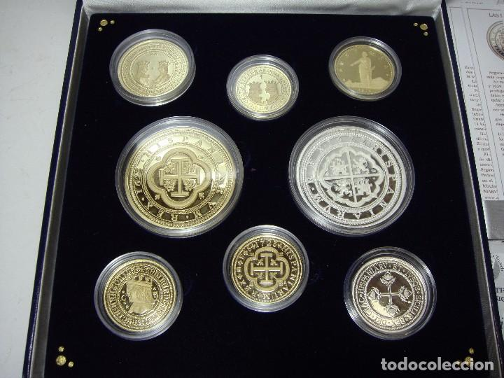 Monedas FNMT: Colección de las Monedas Españolas mas Caras. 8 piezas de plata .999 (6 recubiertas en oro 24 ktes) - Foto 3 - 74625575