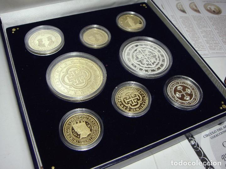 Monedas FNMT: Colección de las Monedas Españolas mas Caras. 8 piezas de plata .999 (6 recubiertas en oro 24 ktes) - Foto 5 - 74625575