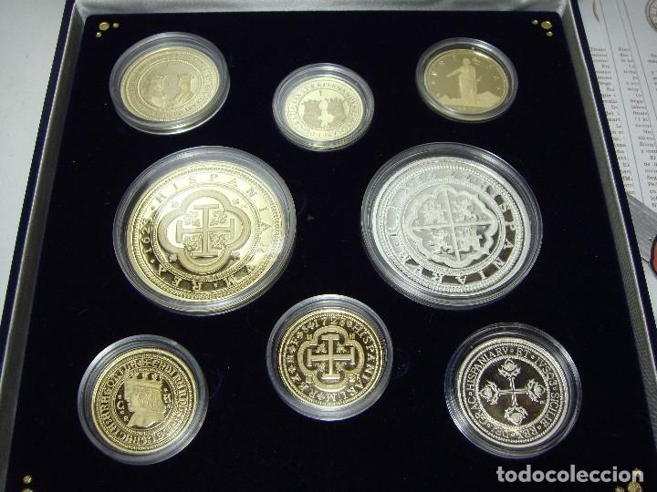 Monedas FNMT: Colección de las Monedas Españolas mas Caras. 8 piezas de plata .999 (6 recubiertas en oro 24 ktes) - Foto 6 - 74625575