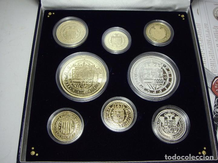 Monedas FNMT: Colección de las Monedas Españolas mas Caras. 8 piezas de plata .999 (6 recubiertas en oro 24 ktes) - Foto 7 - 74625575