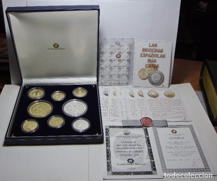 Monedas FNMT: Colección de las Monedas Españolas mas Caras. 8 piezas de plata .999 (6 recubiertas en oro 24 ktes) - Foto 10 - 74625575