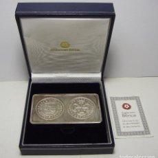Monedas FNMT: LINGOTE DE PLATA PURA .999 MLS. ACUÑACIONES IBÉRICAS. CON ESTUCHE Y CERTIFICADO.. Lote 74627715