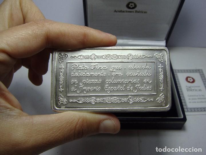 Monedas FNMT: Lingote de Plata Pura .999 mls. Acuñaciones Ibéricas. Con estuche y certificado. - Foto 3 - 74627715