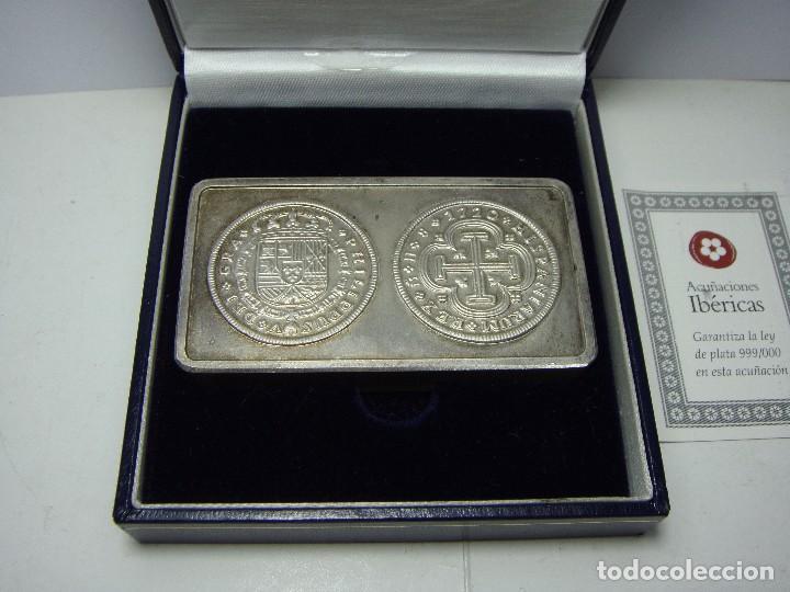 Monedas FNMT: Lingote de Plata Pura .999 mls. Acuñaciones Ibéricas. Con estuche y certificado. - Foto 4 - 74627715