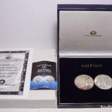 Monedas FNMT: MEDALLAS DE COLECCIÓN. PLATA .999. CON ESTUCHE Y CERTIFICADO. LAS MEDALLAS DEL MILENIUM. 1999 - 2000. Lote 74841339