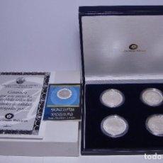 Monedas FNMT: MONEDAS DE COLECCIÓN. PLATA. HISTORIA DE LOS SISTEMAS MONETARIOS. CON ESTUCHE, CERTF. Y ENCAPSULADAS. Lote 74842607
