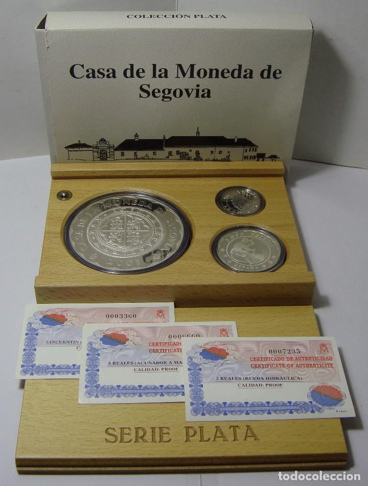 MONEDAS DE COLECCIÓN. PLATA. CASA DE LA MONEDA DE SEGOVIA - 2001. CON ESTUCHE, CERTIF. Y ENCAPSULADA (Numismática - España Modernas y Contemporáneas - FNMT)