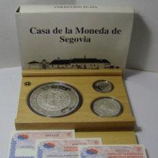 Monedas FNMT: MONEDAS DE COLECCIÓN. PLATA. CASA DE LA MONEDA DE SEGOVIA - 2001. CON ESTUCHE, CERTIF. Y ENCAPSULADA. Lote 74898499